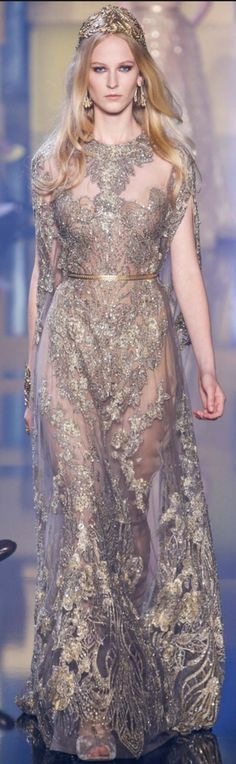 Elie Saab Fall Couture 2015 gold