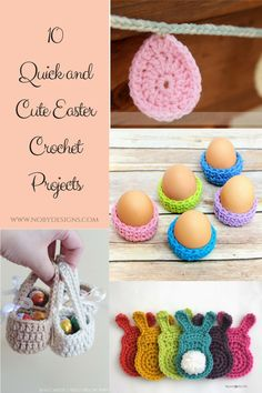 10 quick and easy (FREE) Easter crochet Patterns
