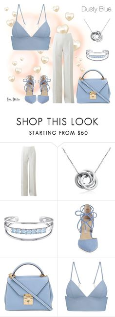 """Dusty Blue"" by debbie-michailides ❤ liked on Polyvore featuring Michael Kors, Blue Nile, Catherine Malandrino, Kristin Cavallari, Mark Cross and T By Alexander Wang"