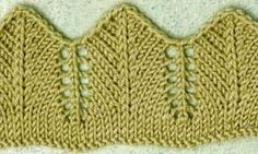 The Pointed Lace Edging This edging is knitted horizontally, top down, from the straight edge to the wavy one, so cast on the entire length of your edge. Knitting Daily, Knitting Blogs, Knitting For Beginners, Easy Knitting, Knitting Stitches, Knitting Designs, Knitting Projects, Knitting Patterns, Crochet Quilt
