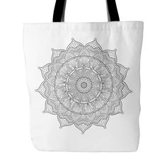EXCLUSIVE! Color Happy's Own Design – Sunshine Mandala Tote Bag for Coloring