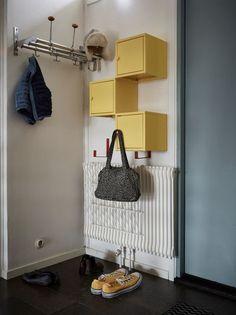 20 Practical Wall Ideas With Ikea EKET Cabinet - Ikea - Practicalideas Office Cabinet Design, Home Office Cabinets, Home Office Storage, Home Office Design, Home Design, Wall Design, Design Ideas, Ikea Eket, Ikea Wall