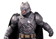 DC outdid itself with this armor-clad statue of Batman from 'Batman v Superman.'