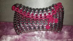 Pretty in pink can tabs clutch - Ashlea's Designs