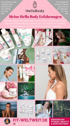 Hello Body Erfahrungen: Gesichts – Produkte HELLOBODY Erfahrung Face # Experience My Hello Body experiences with the products for the face. Detox Maske, Body Peeling, Hello Body, Healthy Mind, Makeup Tips, Health And Wellness, Halle, Beauty Hacks, Facial