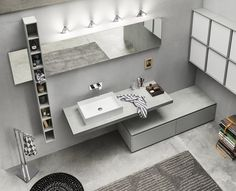 Create your bathroom space Toilet Vanity, Bathroom Vanity Cabinets, Bathroom Furniture Design, Bathroom Interior Design, Modern Bathroom, Master Bathroom, Open Plan Bathrooms, Sink Countertop, House Rooms