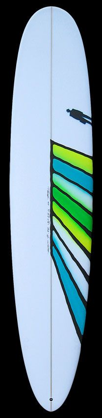 Performance Longboard | Green Yellow Blue Abstract