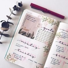 nice weekly spread inspiration #bulletjournal #bujo #weekly