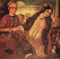 Qajar period figurative paintings.