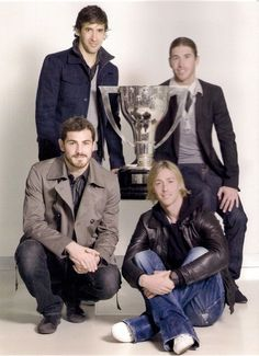 Raul Gonzalez, Sergio Ramos, Iker Casillas, and Guti Hernandez.  They all are Captains. They all are LEGENDS !!