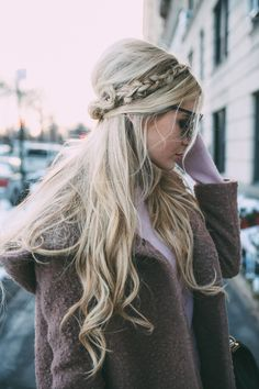 Gorgeous Hair Style! Braids + Half Up // Barefoot Blonde