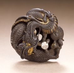 Dragon Guarding the Jewel of the Buddha Mitsukiyo (Japan, active 19th century) -LACMA Collections