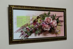 Настенная флористическая композиция 40*80 см