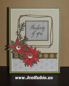 THANK YOU for stopping by to enjoy our   December Stamp of the Month Blog Hop   featuring this month's SOTM:   Thoughtful Flowers S1612    ...