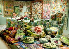 kaffe fassett needle point and quilt from a Life In Color