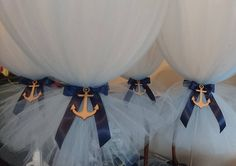 Baby blue, white and navy nautical theme for a baby boys christening today