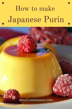 Purin is a caramel custard recipe that is famous in Japan that resembles flan. This recipe pairs a velvety smooth custard with a creamy quick caramel sauce to give you the perfect combination. Even if you aren't a pudding person this recipe will make you fall in love. #custard #japanese #asian #purin #pudding #foodporn