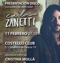 """Madrid el jueves presentamos """"Ilusiones de alta mar"""" en @CostelloClub. Vamos a tener el placer de escuchar antes en acústico a @crismmusic28 con @sitotxu.  Va a ser una noche mágica. Os esperamos a todos.  #folk #rock #country #Costello #madrid #IlusionesDeAltaMar #directo by _carloszanetti"""