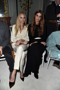 Lauren Santo Domingo and Bianca Brandolini d'Adda attend the Giambattista Valli Haute Couture Spring Summer 2017 show as part of Paris Fashion Week...
