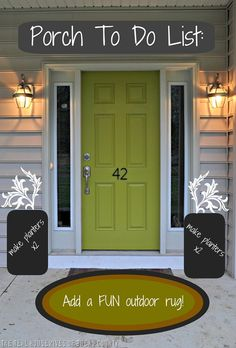 To do list - Front door makeover... first I need to paint the door back to clean white!