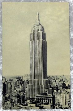 1941 Empire State Building NY City Postcard, Manhattan Fifth Avenue, Vintage Paper, New York State by OakwoodView, $7.00