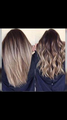 Balayage is suitable for light and dark hair, almost all lengths except very short haircuts. Today I want to show you the most popular Brunette Balayage Hair Color Ideas. Balayage has become the biggest trend in recent seasons, and it's not over yet. Cabelo Ombre Hair, Hair Color Balayage, Balayage Hairstyle, Blonde Color, Dark Brown To Blonde Balayage, Balayage Hair Brunette Straight, Medium Balayage Hair, Hair Color Ideas For Brunettes Balayage, Balyage Hair