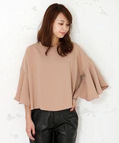 【ZOZOTOWN|送料無料】STYLE DELI(スタイルデリ)のTシャツ/カットソー「【LUXE】厚地ジョーゼットフレア袖ブラウス」(231351)を購入できます。