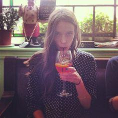 #StacyMartin Stacy Martin London Pub, September 1, 2013