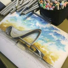 Interesting Find A Career In Architecture Ideas. Admirable Find A Career In Architecture Ideas. Zaha Hadid Architecture, Architecture Plan, Landscape Architecture, Architecture Concept Drawings, Architecture Sketchbook, Sketches Arquitectura, Architect Drawing, Copics, Architectural Sketches