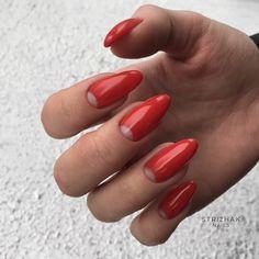 Nails french Very nice long red gel nails Very nice long red gel nails Red Gel Nails, Nail Manicure, Acrylic Nails, Nail Swag, Minimalist Nails, Ombre Nail Designs, Nail Art Designs, Nails Design, French Nails