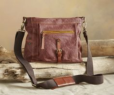 Banyan Crossbody Bag - The bag you've been searching for—soft, washed leather with plentiful pockets and an adjustable crossbody strap.