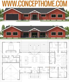 House Plan Home Plans Floor Plans Metal House Plans, House Plans And More, Barn House Plans, Dream House Plans, Small House Plans, House Floor Plans, Bungalow, Home Design Floor Plans, Pole Barn Homes