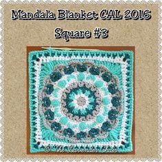 Chrysanthemum Manadala Square Crochet Pattern
