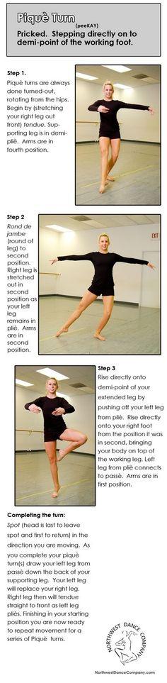 Burnaby South Dance: Dance Technique: Pique & Pique Turn