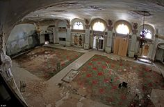 The mess that ghosts left: The interior of the tattered Baker Hotel in downtown Mineral Wells