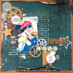 Kaisercraft : Scrap Yard Collection : Remember This Moment layout by Amanda Baldwin