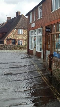 """""""Just don't park your car on Shore Road or you can watch it floating (or just sinking) at high tide. Chichester, Cabin, Mansions, House Styles, Places, Home Decor, Decoration Home, Room Decor, Cabins"""