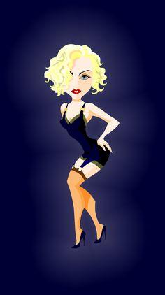 Pud Whacker's Madonna Scrapbook: The Queen Madonna Rare, Lady Madonna, Madonna 80s, Madonna Vogue, Funny Caricatures, Celebrity Caricatures, Celebrity Drawings, Madonna Tattoo, Madonna Movies