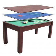 Billar, Ping pong, Mesa comedor en http://www.tuverano.com/comprar-mesas-de-billar/131-3en1-billar.html