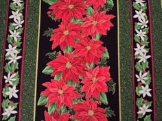 The Christmas Star Kensington Studios Quilting Treasures BTY Poinsettia Stripe