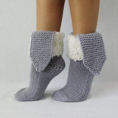 Bunny Sock. Christmas gift ideas. Grey Socks. от mymomsshop1