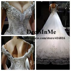 Real Sample Luxury Diamond Off Shoulder Backless Wedding Dress with  Sequined Skirt Cathedral Train Bridal Gown Free Shipping  284 26bc88e54d
