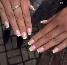 Discover new and inspirational nail art for your short nail designs. Cute Acrylic Nails, Neon Nails, Yellow Nails, Red Nail, Pastel Nails, Ongles Gel French, Gel Nails French, Minimalist Nails, Nail Swag