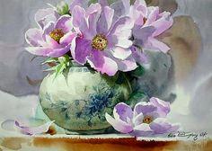 7 das Artes: Shin Jong Sik, um mestre na arte de representar o belo em suas aquarelas.