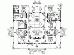 Floor plans for hacienda style homes