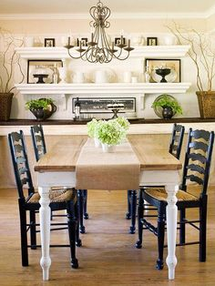 A simple burlap table runner is a great way to add an autumn touch. More fall decorating: http://www.bhg.com/decorating/seasonal/fall/fall-decorating-ideas/?socsrc=bhgpin092513burlap#page=10