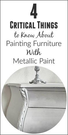 Before you decide to do a metallic paint on a piece of furniture, it's important to understand a few things before you even… View the slideshow below to read more: