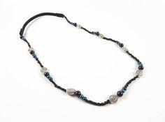 Black Beaded Headband/ Festival Headband/ Hair Accessory/ Black Headband/ Hair Jewelry/ Bridal Hair Jewelry/ Boho Headband/ Women's Headband