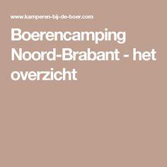 Boerencamping Noord-Brabant - het overzicht
