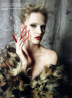 """""""Be careful what you wear to sleep, You never know who you could meet… """"Lara Stone photographed by David Bailey for i-D Magazine Fall 2011Stylist:   Charlotte Stockdale #blog #blogger #fashion #style #photography #models #tumblr http://www.midnight-charm.com/"""